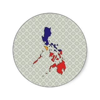 Philippines Flag Map full size Stickers