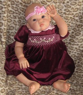 Gorgeous Reborn Glorie 9 Month Toddler Girl GHSP Blue Glass Eyes by
