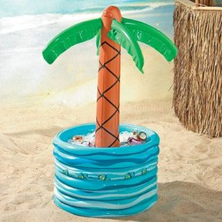Inflatable Palm Tree Beer Cooler Hawaiian Luau Tiki Bar