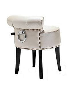Black Orchid White Pearl Dressing Table Stool