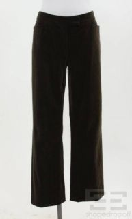 Loro Piana Brown Corduroy Straight Leg Pants Size 46