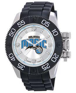 Game Time Watch, Mens Orlando Magic Black Polyurethane Strap 47mm NBA