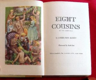 Vintage Classic Childrens Book Eight Cousins HC
