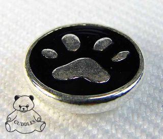 Paw Print Lotti Dotties Charm Dot Magnetic Jewelry Silver Plated Dog