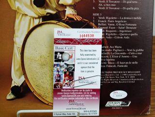 Luciano Pavarotti Signed LP Album Cover JSA H44538 Thumbnail Image