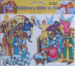 Betty Lukens Birth of Jesus Pre Cut Felt Bible Set New