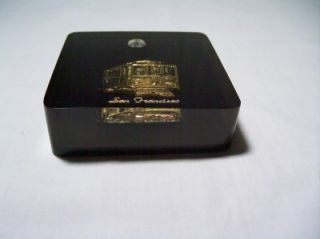 Vintage Lucite San Francisco Cable Car Paperweight Desk
