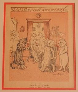 Louis Wain Cat Illustration Our Social at Home