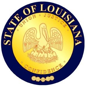 Louisiana State Seal Vinyl Decal Sticker