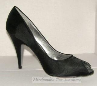 Luichiny Black Satin High Heel Nona Shoes New 10