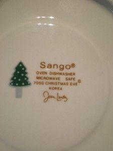 Swirled Edge Sango Christmas Eve Designed by Joan Luntz 7050