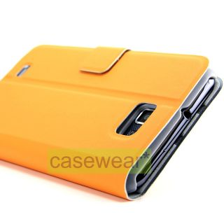 Luxmo Dolce Orange Foldable Stand Pouch Case Cover for Samsung Galaxy