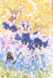 Sailor Moon Luna Cat Sitting Suction Cup Anime Manga Figure RARE 1996