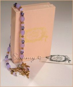 Kirks Folly Tanzanite Bead Luna Ocean Mist Fairy Charm Necklace