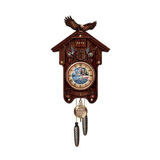 Hour of Glory U s Navy Collectible Wood Cuckoo Clock