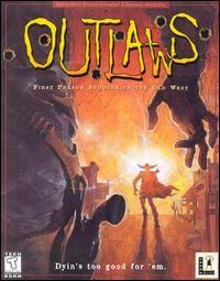 CD wild west gun slinging western town FPS six shooter game LucasArts