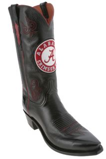 Lucchese Black University of Alabama NCAA Mens Cowboy Boots