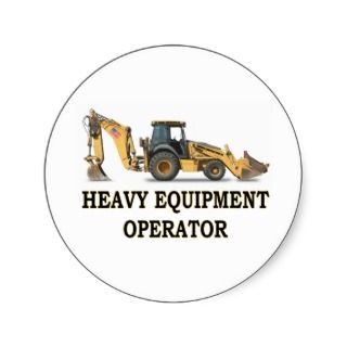 BACK HOE LOADER STICKER