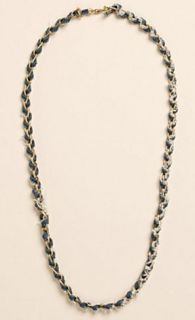 Lucky Brand Womens Necklace Denim Blue Multi Media Fashion Chain New $