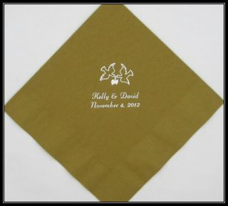 50 Personalized Luncheon Napkins Wedding Favors Custom Printed