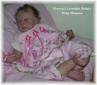 Reborn Sleeping Baby Girl Blossom J Lynn Precious Little Girl