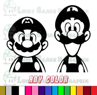 Mario and Luigi Peeking Sticker Decals Any Color Game Car Wall Window