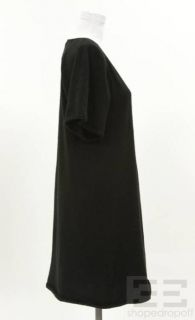 Lutz Patmos Black Cashmere V Neck Shift Dress Size M
