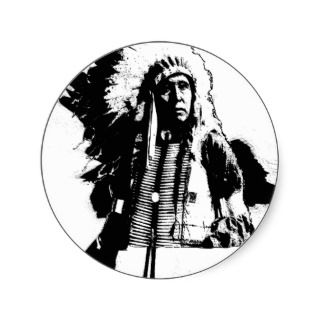 Native American Indian Chief or Brave Sticker