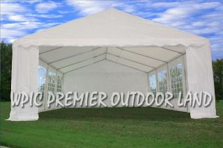 26 x 16 PE Party Tent   2 Colors Available   White or Blue White