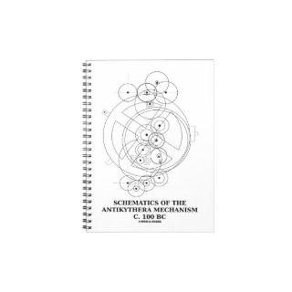 Schematics Of The Antikythera Mechanism (Diagram) Spiral Note Books