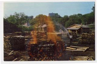 Lynchburg TN Jack Daniel Distillery 2 Postcards Sawmill Charcoal