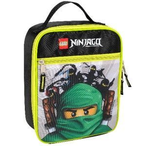 Lego Green Ninjago Insulated Lunch Bag Box Tote Minifig Minifigures