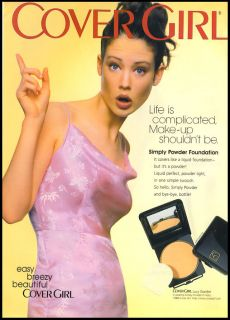 1990s Vintage Ad for Cover Girl Lucy Gordon 99