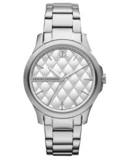 Armani Exchange Watch, Womens White Leather Strap 36mm AX5205
