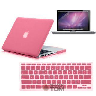in 1 Rubberized Pink Hard Case Fr MacBook Pro 13 Keyboard Cover