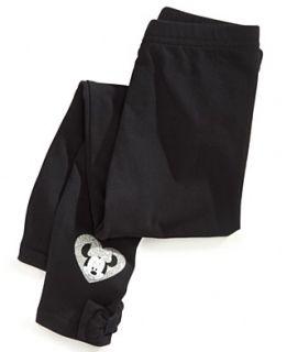 Disney Kids Pants, Little Girls Minnie Mouse Bow Leggings