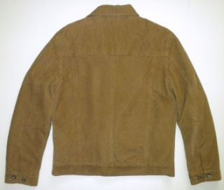 Kenneth Cole Reaction Tan Corduroy Lined Insulated Cotton Jacket Mens
