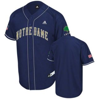 Notre Dame Fighting Irish Premier Adidas Baseball Jersey XL