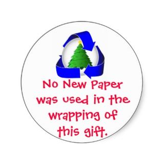Recycled Gift Wrap Round Stickers