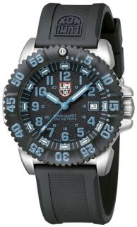 Luminox Mens Watch Colormark Stainless Steel Rubber Strap Watch 3153