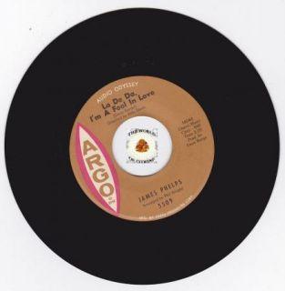 Hear Northern Soul 45 James Phelps La de Da IM A Fool in Love Argo