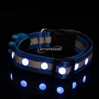 Pet Night Fashion Flash LED Light Collar Dog Cat Night Cool Collar M