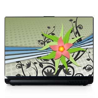Laptop Computer Skin Fits PC or Mac Flowers 046