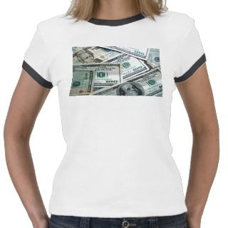 Money Hundred Dollar Bills T Shirt