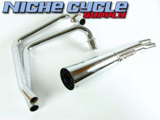 Honda CB 350 Twin Chrome Mac Exhaust System 2 1 New CB 001 0103