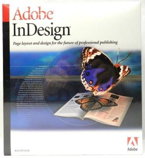 Adobe InDesign Page Layout Design Software for Macintosh Mac New