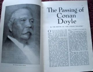 Strand Magazine September 1930 Conan Doyle Obituary & A Scandal in