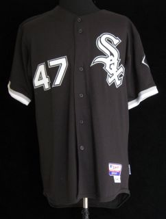 2008 Chicago White Sox Mike MacDougal 47 Game Used Black Alt Jersey