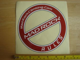 Mad Rock Climbing Shoes No Rules Sticker Decal LRG New