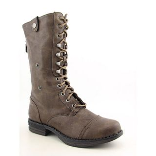 Madden Girl Zorrba Womens Sz 6 Brown Boots Military Shoes